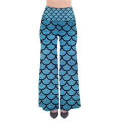 Scales1 Black Marble & Teal Brushed Metal Pants by trendistuff