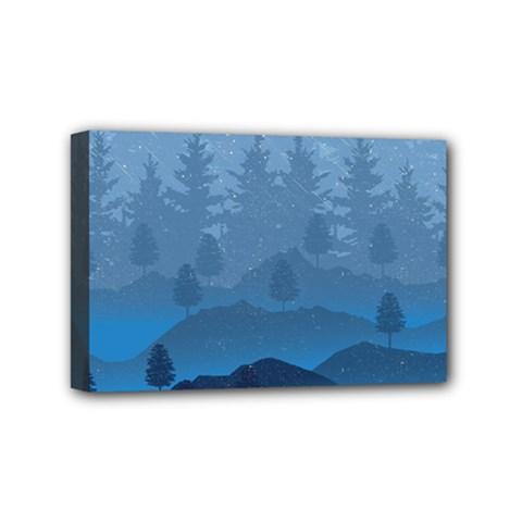 Blue Mountain Mini Canvas 6  X 4  by berwies