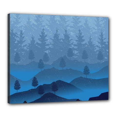 Blue Mountain Canvas 24  X 20  by berwies