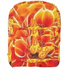 Arrangement Butterfly Aesthetics Orange Background Full Print Backpack by Celenk