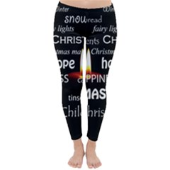 Candles Christmas Advent Light Classic Winter Leggings by Celenk