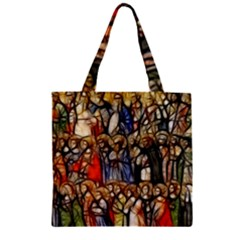 All Saints Christian Holy Faith Zipper Grocery Tote Bag by Celenk