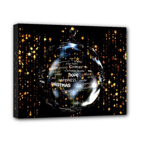 Christmas Star Ball Canvas 10  X 8  by Celenk
