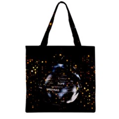 Christmas Star Ball Grocery Tote Bag by Celenk