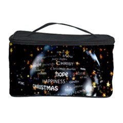 Christmas Star Ball Cosmetic Storage Case by Celenk