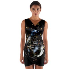 Christmas Star Ball Wrap Front Bodycon Dress by Celenk
