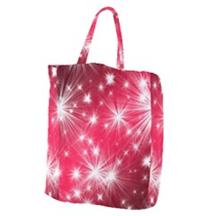 Christmas Star Advent Background Giant Grocery Zipper Tote by Celenk