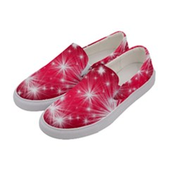 Christmas Star Advent Background Women s Canvas Slip Ons by Celenk