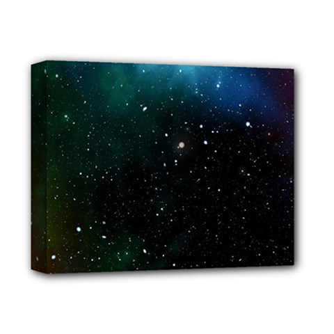 Galaxy Space Universe Astronautics Deluxe Canvas 14  X 11  by Celenk