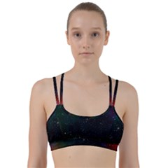 Galaxy Space Universe Astronautics Line Them Up Sports Bra