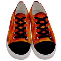 Black Yellow Red Sunset Men s Low Top Canvas Sneakers
