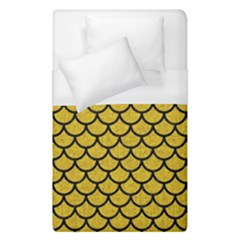 Scales1 Black Marble & Yellow Denim Duvet Cover (single Size) by trendistuff