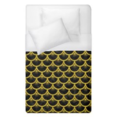 Scales3 Black Marble & Yellow Denim (r) Duvet Cover (single Size) by trendistuff