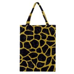 Skin1 Black Marble & Yellow Denim Classic Tote Bag by trendistuff