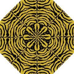 Skin2 Black Marble & Yellow Denim Golf Umbrellas by trendistuff