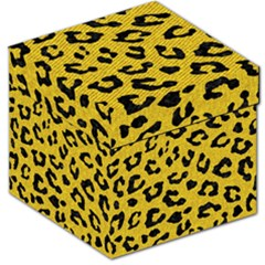 Skin5 Black Marble & Yellow Denim (r) Storage Stool 12   by trendistuff