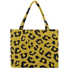 Skin5 Black Marble & Yellow Denim (r) Mini Tote Bag by trendistuff