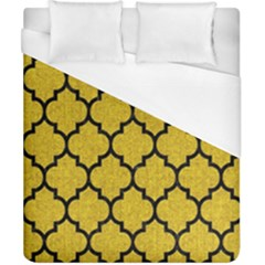 Tile1 Black Marble & Yellow Denim Duvet Cover (california King Size) by trendistuff