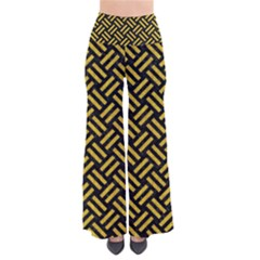 Woven2 Black Marble & Yellow Denim (r) Pants by trendistuff