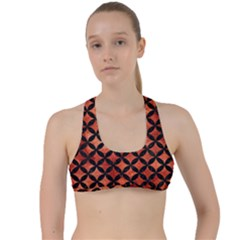 Circles3 Black Marble & Copper Paint Criss Cross Racerback Sports Bra