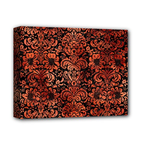 Damask2 Black Marble & Copper Paint (r) Deluxe Canvas 14  X 11  by trendistuff
