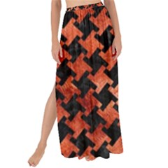 Houndstooth2 Black Marble & Copper Paint Maxi Chiffon Tie Up Sarong