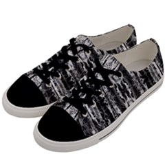Black White Taditional Pattern Men s Low Top Canvas Sneakers by Costasonlineshop