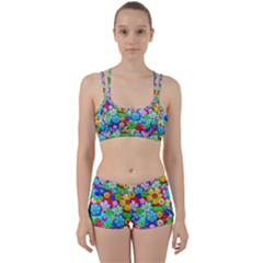 Flowers Ornament Decoration Women s Sports Set by Celenk