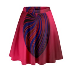 Heart Love Luck Abstract High Waist Skirt by Celenk