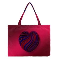 Heart Love Luck Abstract Medium Tote Bag