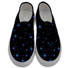 Bright Blue  Stars In Space Men s Classic Low Top Sneakers
