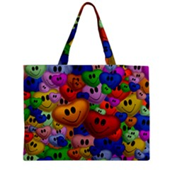 Heart Love Smile Smilie Zipper Medium Tote Bag