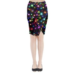 Fireworks Rocket New Year S Day Midi Wrap Pencil Skirt by Celenk
