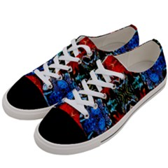 Colorful  Underwater Plants Pattern Women s Low Top Canvas Sneakers by Costasonlineshop