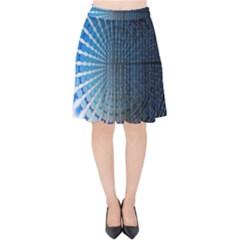Data Computer Internet Online Velvet High Waist Skirt