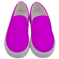 Trendy Purple Men s Canvas Slip Ons