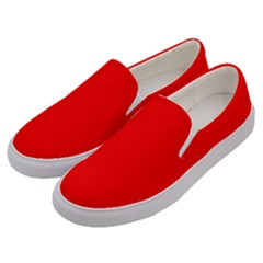 Trendy Red Men s Canvas Slip Ons by Costasonlineshop