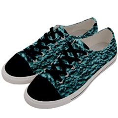 Blue Green  Wall Background Men s Low Top Canvas Sneakers by Costasonlineshop