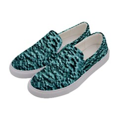 Blue Green  Wall Background Women s Canvas Slip Ons by Costasonlineshop