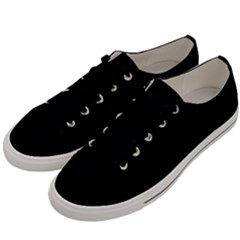 Black Gothic Men s Low Top Canvas Sneakers by Costasonlineshop