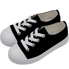 Black Gothic Kids  Low Top Canvas Sneakers by Costasonlineshop