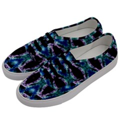 Blue, Light Blue, Metallic Diamond Pattern Men s Classic Low Top Sneakers by Costasonlineshop