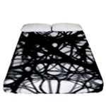 Neurons Brain Cells Brain Structure Fitted Sheet (Queen Size)