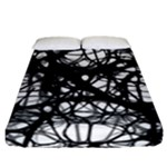 Neurons Brain Cells Brain Structure Fitted Sheet (California King Size)