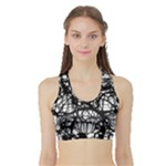Neurons Brain Cells Brain Structure Sports Bra with Border