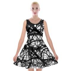 Neurons Brain Cells Brain Structure Velvet Skater Dress
