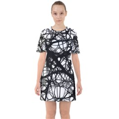Neurons Brain Cells Brain Structure Sixties Short Sleeve Mini Dress