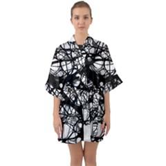 Neurons Brain Cells Brain Structure Quarter Sleeve Kimono Robe