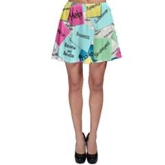 Stickies Post It List Business Skater Skirt by Celenk