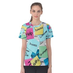 Stickies Post It List Business Women s Cotton Tee by Celenk